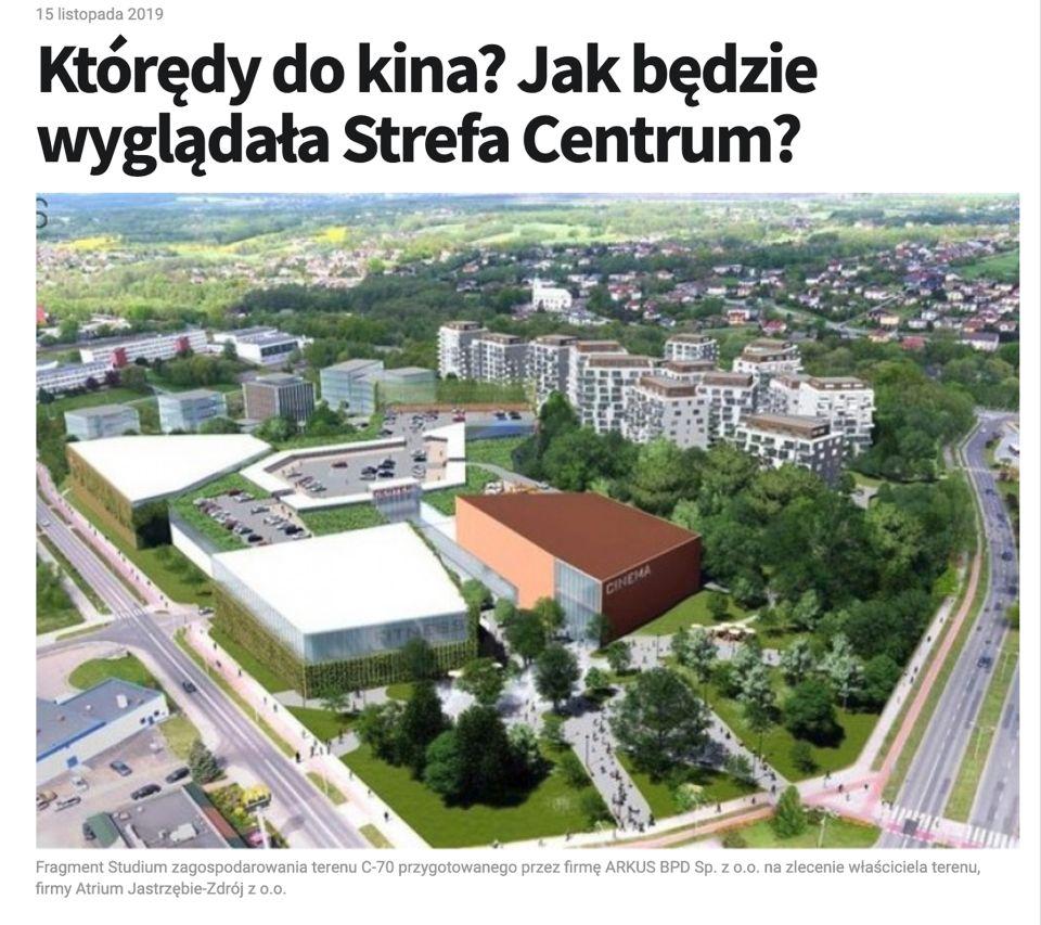 Studium zagospodarowania jednostki C70 w Jastrzebiu